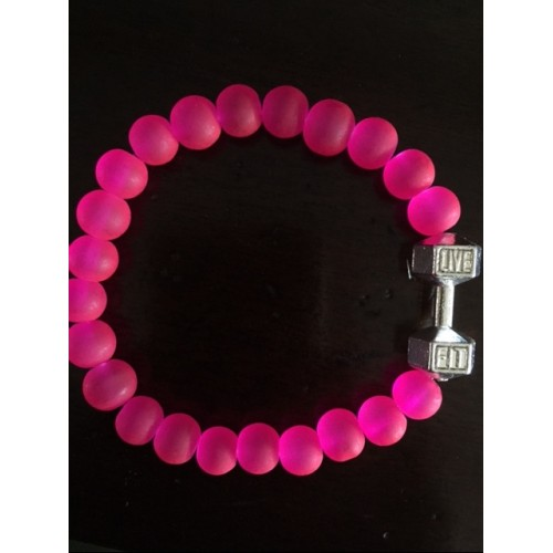 Ladies Hot Pink Live Fit Bracelet