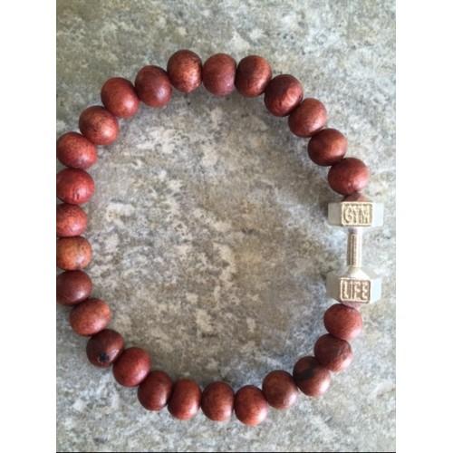 Men's wooden bead bracelet