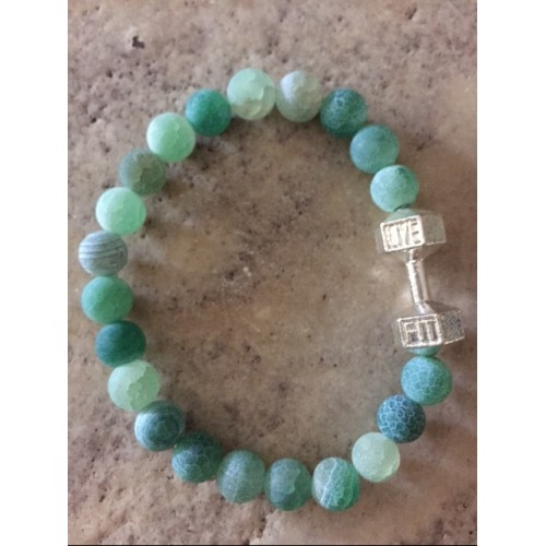 Green Sea Glass Live Fit bracelet