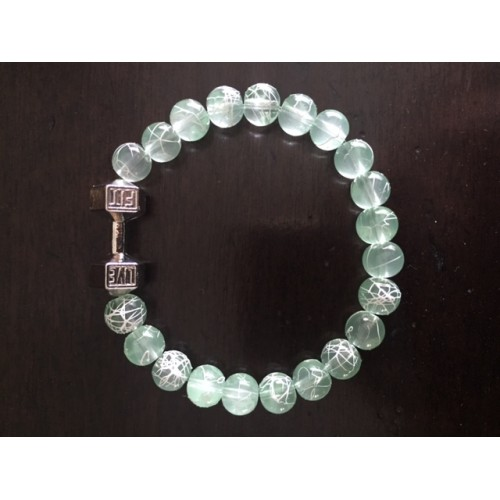 Ladies light green Live Fit Bracelet with white accents