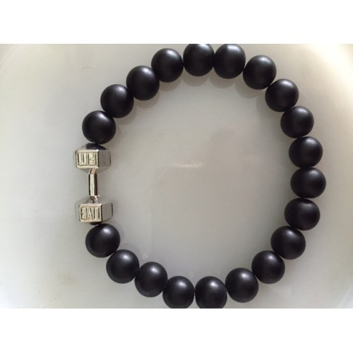 Men's Black Onyx Live Fit Bracelet large beads (10 mm)